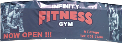 banderole infinity fitness gym roches brunes