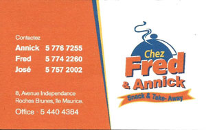 carte Fred et annick
